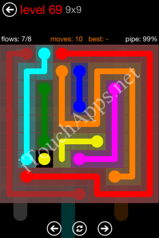 Flow Game 9x9 Mania Pack Level 69 Solution