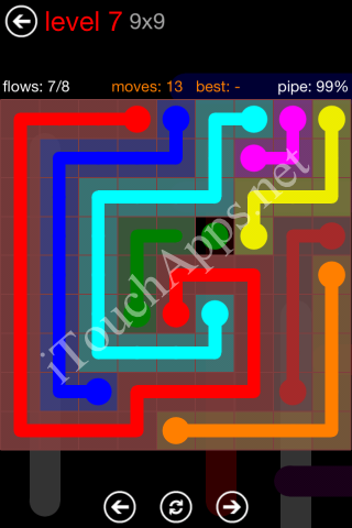 Flow Game 9x9 Mania Pack Level 7 Solution