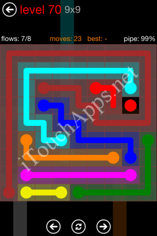 Flow Game 9x9 Mania Pack Level 70 Solution