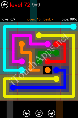 Flow Game 9x9 Mania Pack Level 72 Solution