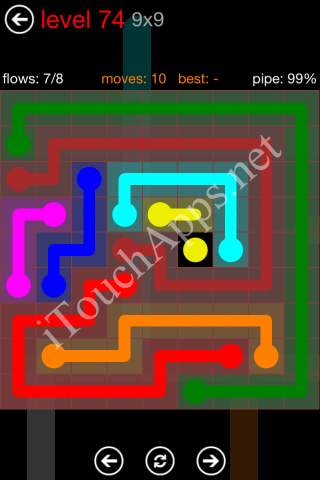 Flow Game 9x9 Mania Pack Level 74 Solution