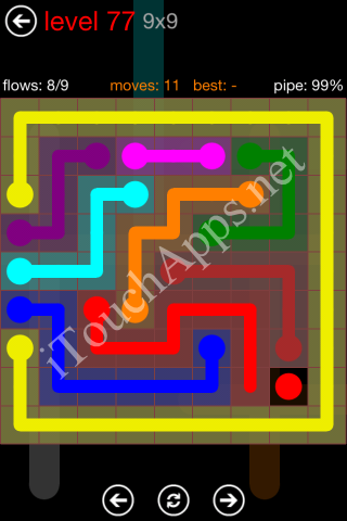 Flow Game 9x9 Mania Pack Level 77 Solution