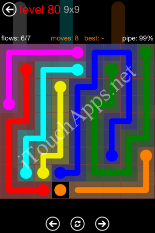 Flow Game 9x9 Mania Pack Level 80 Solution