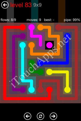 Flow Game 9x9 Mania Pack Level 83 Solution