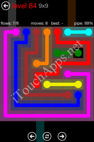 Flow Game 9x9 Mania Pack Level 84 Solution