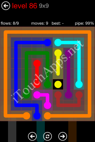 Flow Game 9x9 Mania Pack Level 86 Solution