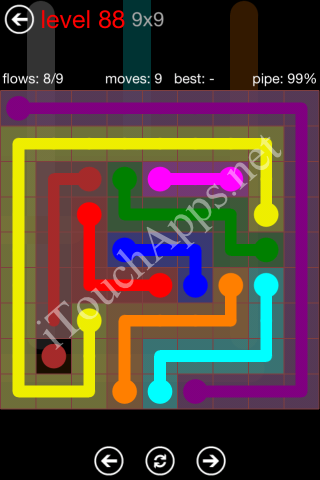 Flow Game 9x9 Mania Pack Level 88 Solution