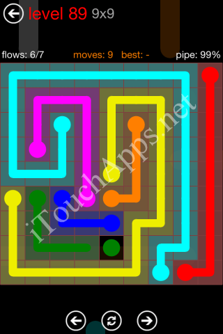 Flow Game 9x9 Mania Pack Level 89 Solution