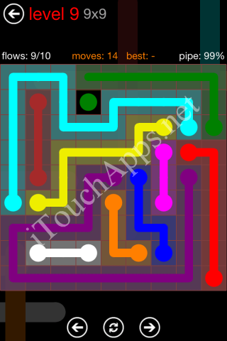 Flow Game 9x9 Mania Pack Level 9 Solution