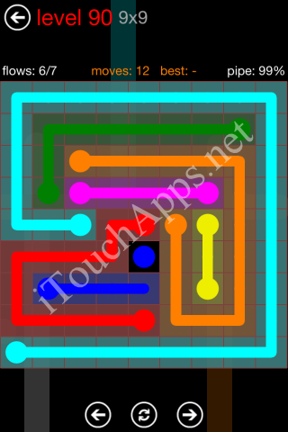 Flow Game 9x9 Mania Pack Level 90 Solution
