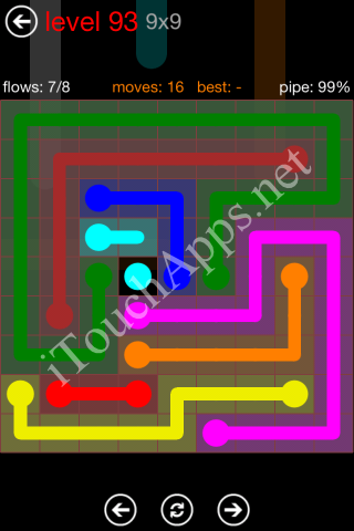 Flow Game 9x9 Mania Pack Level 93 Solution