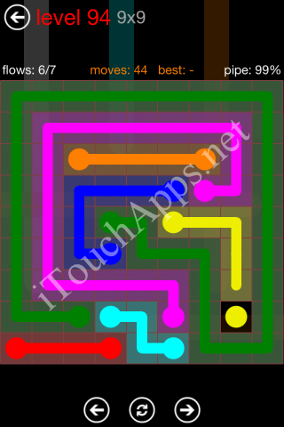Flow Game 9x9 Mania Pack Level 94 Solution