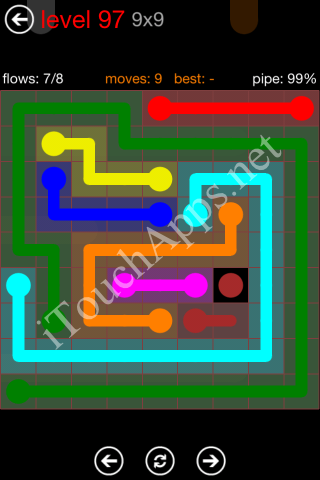 Flow Game 9x9 Mania Pack Level 97 Solution
