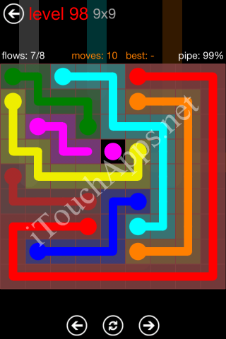 Flow Game 9x9 Mania Pack Level 98 Solution