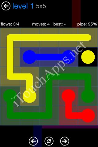 Flow Bonus Pack 5 x 5 Level 1 Solution