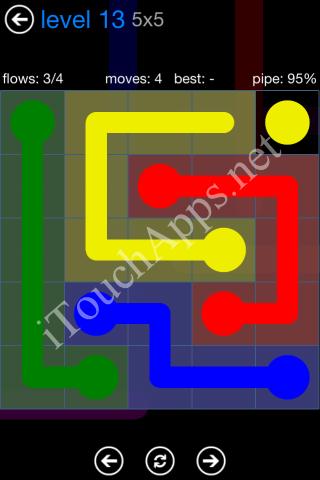 Flow Bonus Pack 5 x 5 Level 13 Solution
