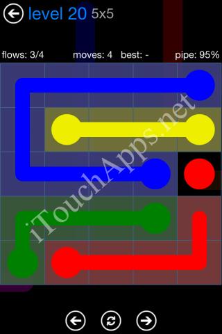 Flow Bonus Pack 5 x 5 Level 20 Solution