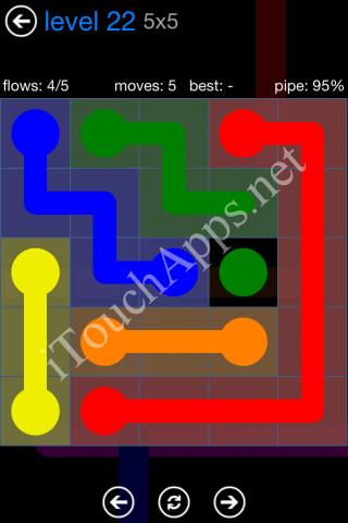Flow Bonus Pack 5 x 5 Level 22 Solution