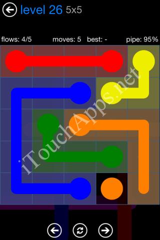 Flow Bonus Pack 5 x 5 Level 26 Solution