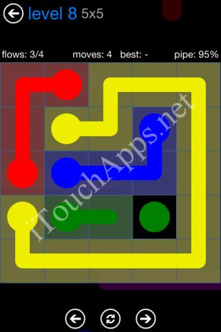 Flow Bonus Pack 5 x 5 Level 8 Solution