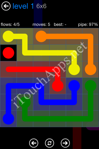 Flow Bonus Pack 6 x 6 Level 1 Solution