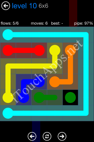 Flow Bonus Pack 6 x 6 Level 10 Solution
