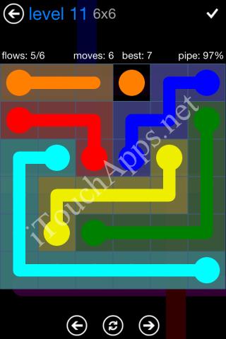 Flow Bonus Pack 6 x 6 Level 11 Solution