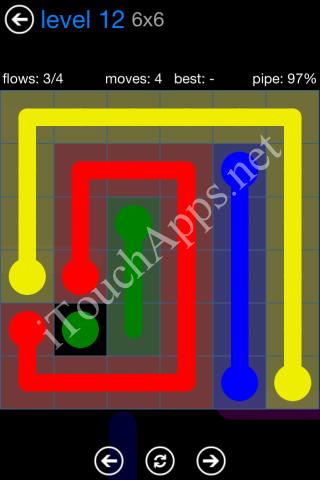 Flow Bonus Pack 6 x 6 Level 12 Solution