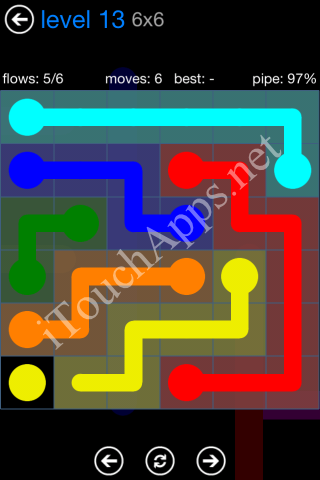 Flow Bonus Pack 6 x 6 Level 13 Solution