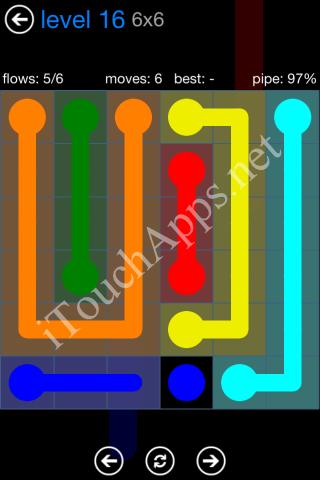 Flow Bonus Pack 6 x 6 Level 16 Solution