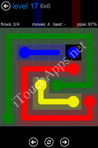 Flow Bonus Pack 6 x 6 Level 17 Solution