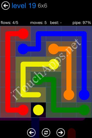 Flow Bonus Pack 6 x 6 Level 19 Solution