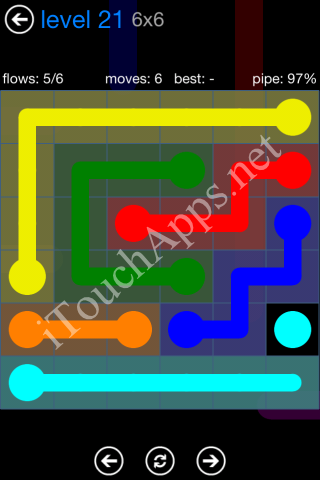 Flow Bonus Pack 6 x 6 Level 21 Solution