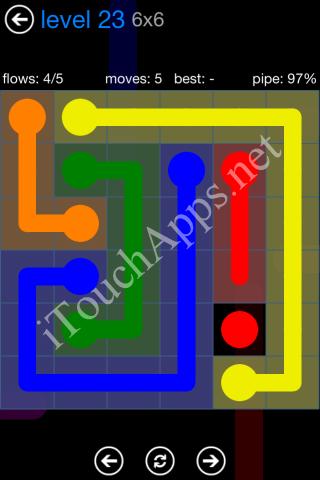 Flow Bonus Pack 6 x 6 Level 23 Solution