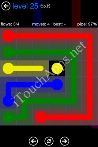Flow Bonus Pack 6 x 6 Level 25 Solution