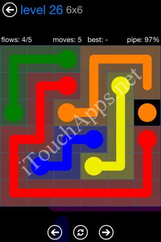 Flow Bonus Pack 6 x 6 Level 26 Solution