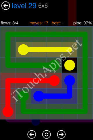 Flow Bonus Pack 6 x 6 Level 29 Solution