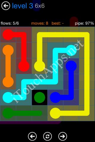 Flow Bonus Pack 6 x 6 Level 3 Solution