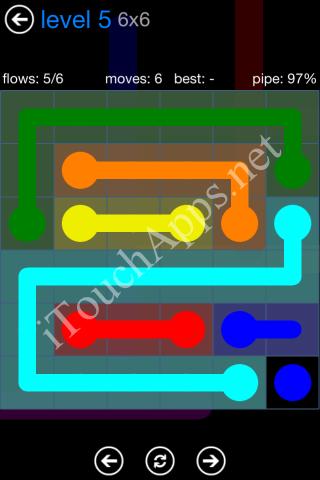 Flow Bonus Pack 6 x 6 Level 5 Solution