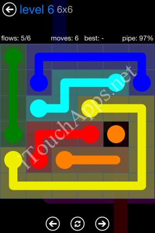 Flow Bonus Pack 6 x 6 Level 6 Solution