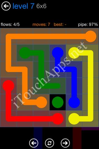 Flow Bonus Pack 6 x 6 Level 7 Solution