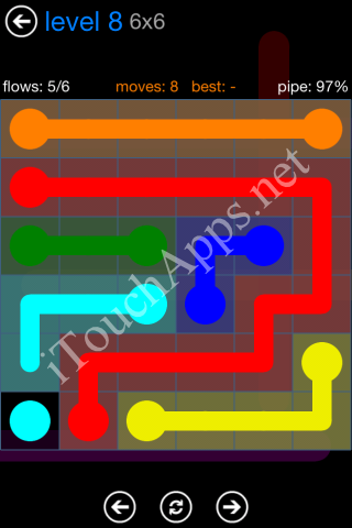 Flow Bonus Pack 6 x 6 Level 8 Solution