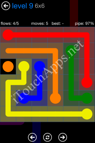 Flow Bonus Pack 6 x 6 Level 9 Solution