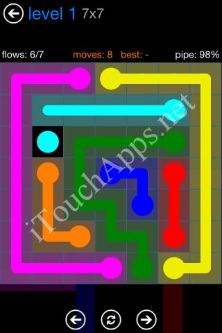 Flow Bonus Pack 7 x 7 Level 1 Solution