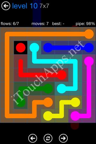 Flow Bonus Pack 7 x 7 Level 10 Solution