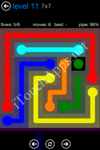 Flow Bonus Pack 7 x 7 Level 11 Solution