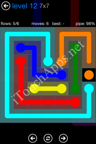 Flow Bonus Pack 7 x 7 Level 12 Solution