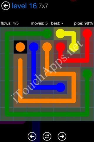 Flow Bonus Pack 7 x 7 Level 16 Solution