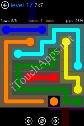 Flow Bonus Pack 7 x 7 Level 17 Solution