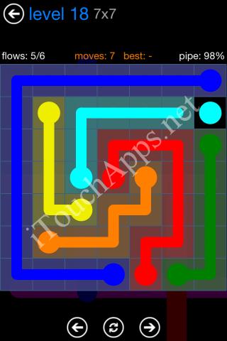 Flow Bonus Pack 7 x 7 Level 18 Solution